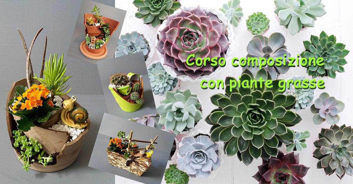 Corso di composizione con piante grasse